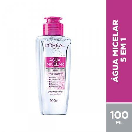 Água Micelar Solução de Limpeza L'Oréal Paris 5 em 1 com 100ml