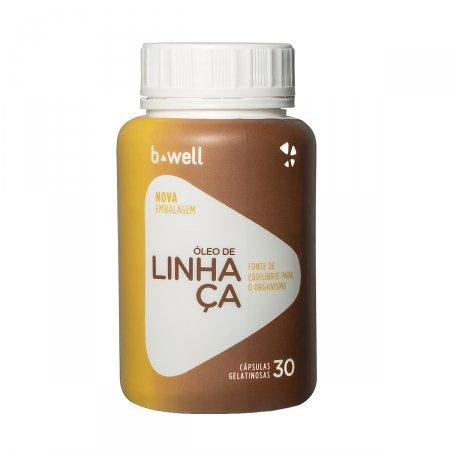 B-WELL OLEO DE LINHACA 30 CAPSULAS