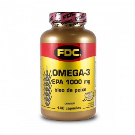 FDC OMEGA 3 EPA 1000MG OLEO DE PEIXE EM CAPSULAS 140 CAPSULAS GELATINOSA