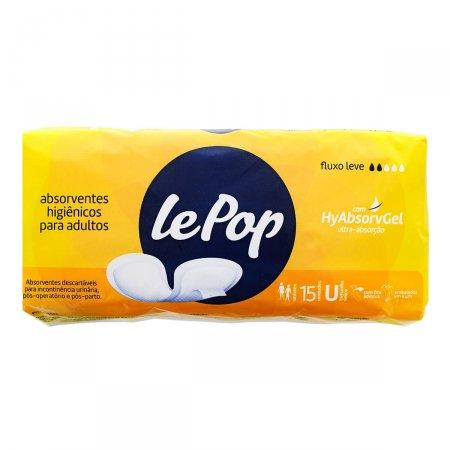 Absorvente Higiênico para Adultos Lepop 15 Unidades  | Drogaraia.com Foto 1
