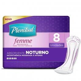 PLENITUD ABSORVENTE FEMME NOTURNO 8 UNIDADES