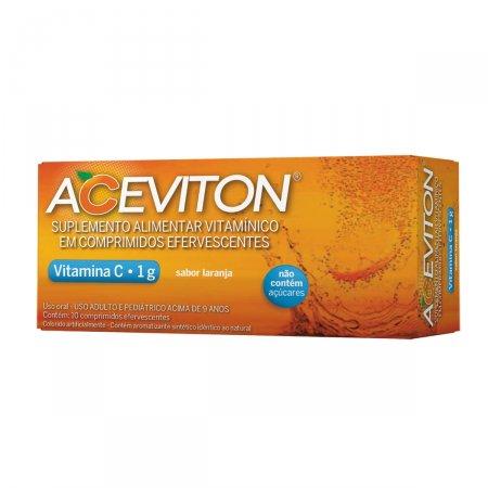 Aceviton 1g Sabor Laranja com 10 Comprimidos   Drogasil.com