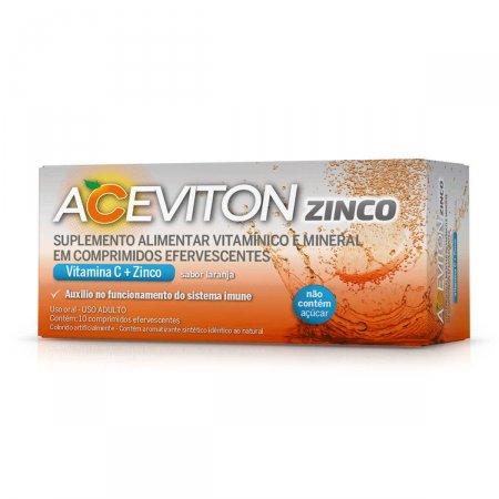 Aceviton Zinco Sabor Laranja com 10 Comprimidos | Drogasil.com