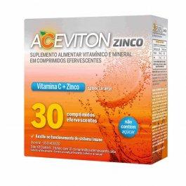 Vitamina C Aceviton Zinco Sabor Laranja com 30 comprimidos efervescentes