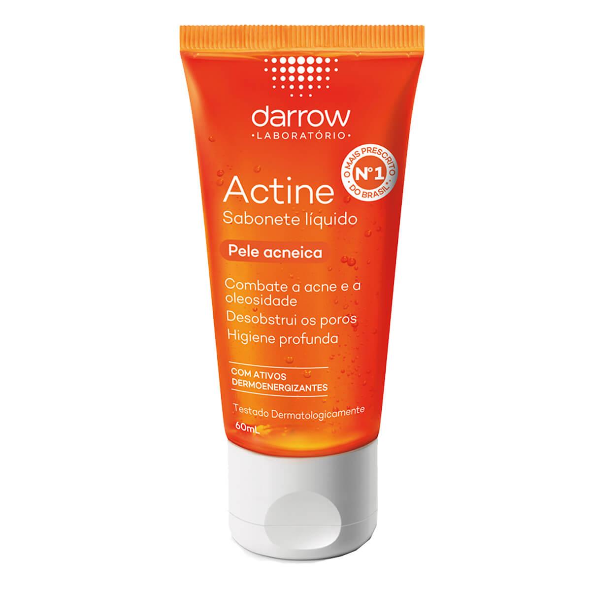 Sabonete Líquido Facial Darrow Actine Pele Acneica com 60ml 60ml