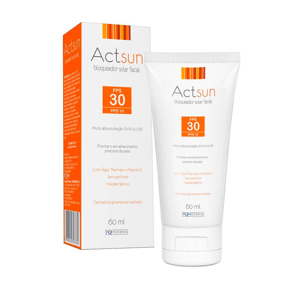 Protetor Solar Facial Actsun FPS30 FQM 60ml