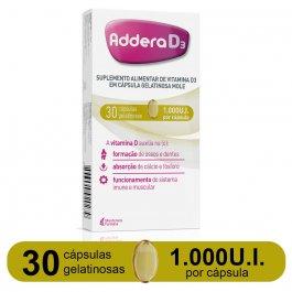 Vitamina D Addera D3 1.000UI com 30 cápsulas