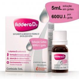 Vitamina D Addera D3 600UI Gotas com 5ml