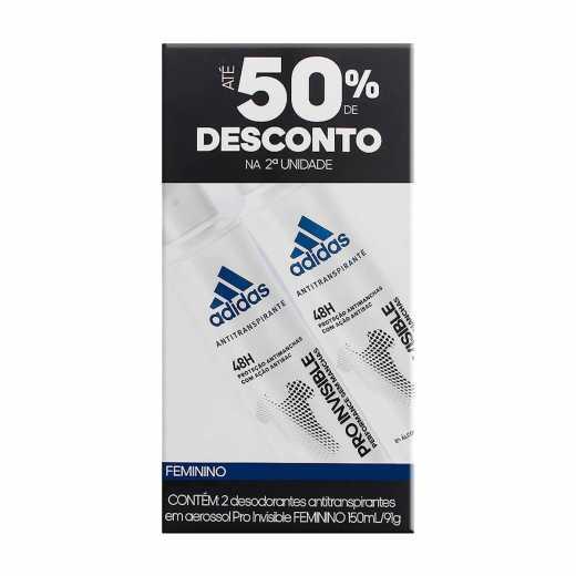 3d2c231c0 Drogasil | Kit Desodorante Aerossol Adidas Invisible Feminino 1 Unidade
