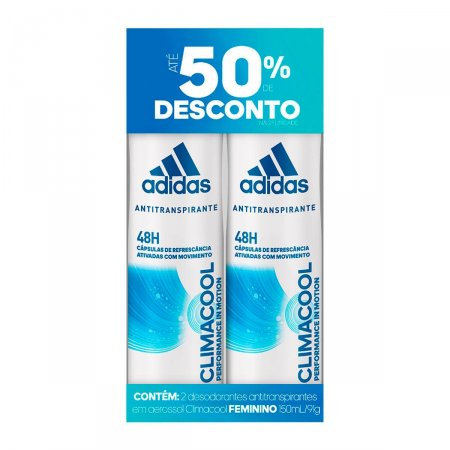 Kit Desodorante Aerosol Adidas Climacool Feminino