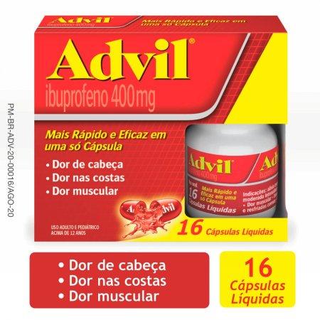 Advil 400mg com 16 Cápsulas   Drogasil.com Foto 2