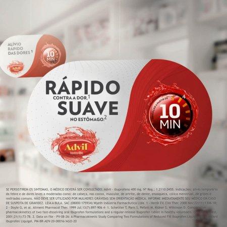 Advil 400mg Embalagem Promocional com 8 Cápsulas | Drogasil.com Foto 3