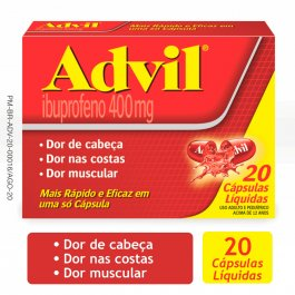 Advil 400mg com 20 cápsulas