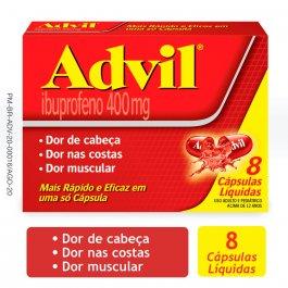 Advil 400mg com 8 cápsulas
