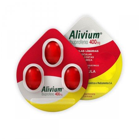 Alivium 400mg com 3 Cápsulas | Drogasil.com Foto 1