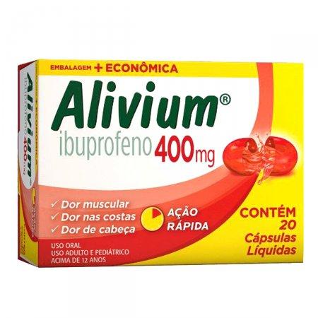 Alivium 400mg com 20 Cápsulas | Drogasil.com Foto 1