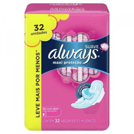 Absorvente Always Maxi Proteção Suave com Abas