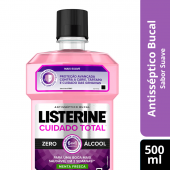 LISTERINE ANTISSEPTICO BUCAL CUIDADO TOTAL ZERO 500ML