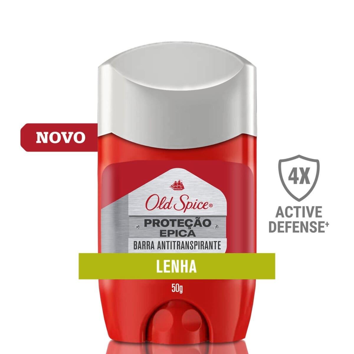 Desodorante em Barra Antitranspirante Old Spice Proteção Épica Lenha com 50g 50g