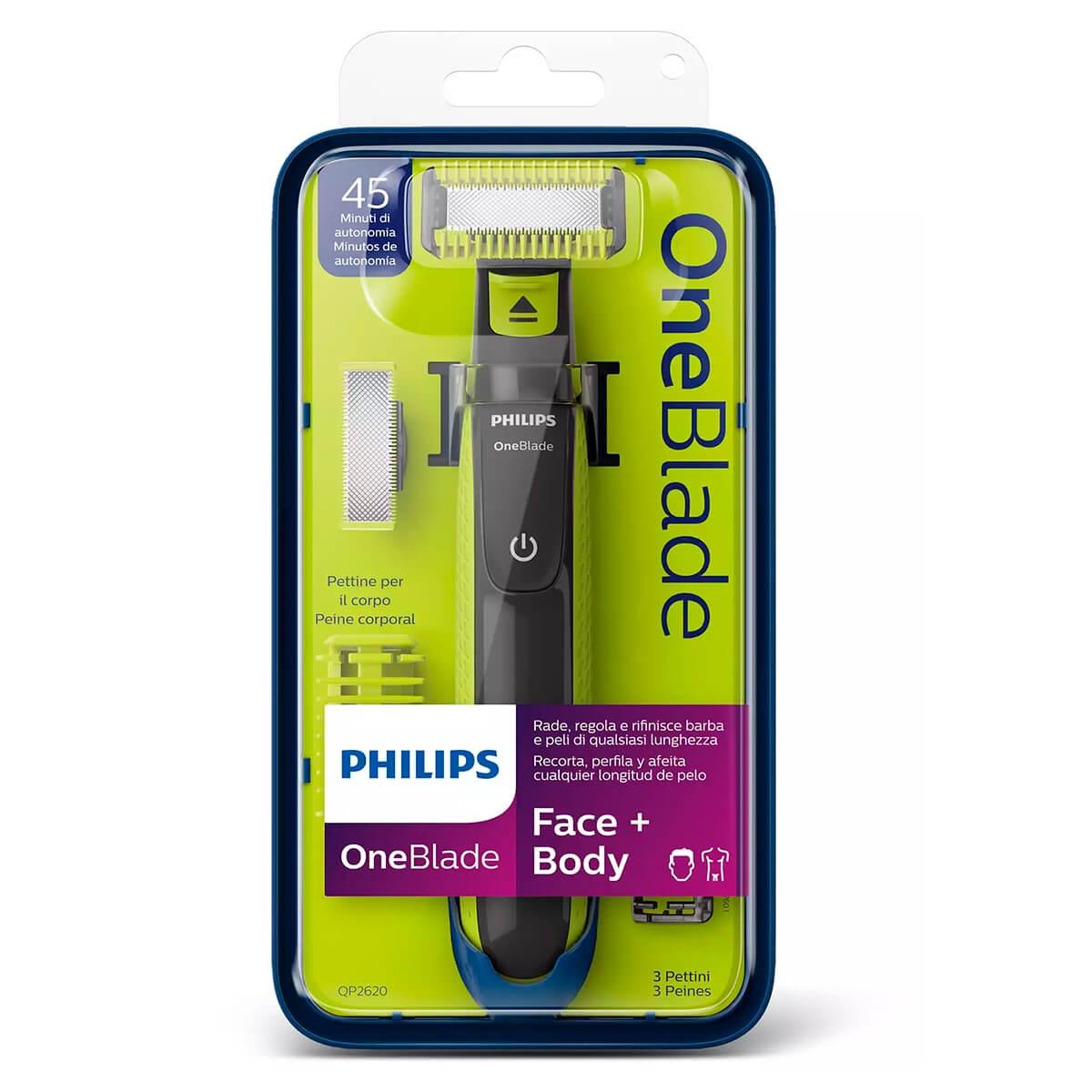 Aparelho de Barbear Philips OneBlade Face e Body 1 Unidade 1 Unidade
