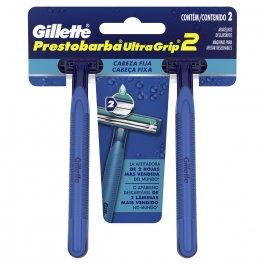 Aparelho para Barbear Masculino Gillette Prestobarba Ultragrip com 2 unidades