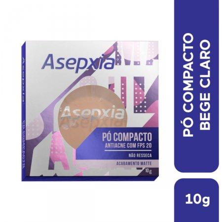 Pó Compacto Asepxia Antiacne Cor Bege Claro FPS20