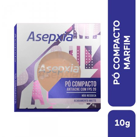 Pó Compacto Asepxia Antiacne Cor Marfim FPS20