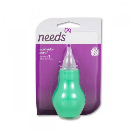 Aspirador Nasal Infantil Needs Cor Verde