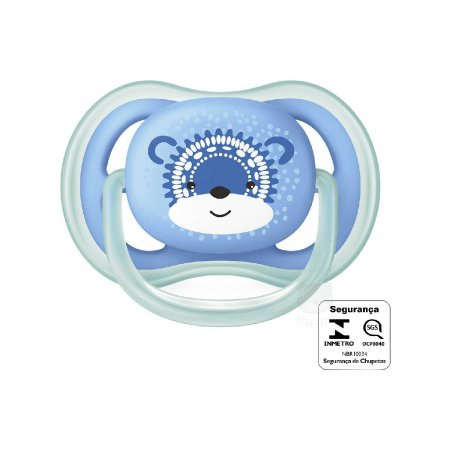 Chupeta Ultra Air Philips Avent Azul Decorada