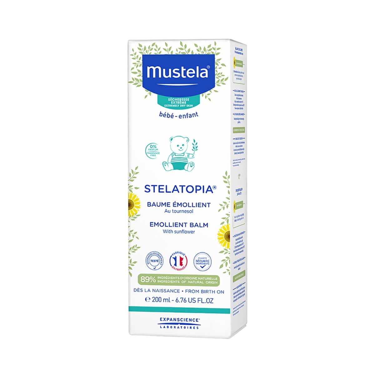 Bálsamo Emoliente Mustela Bebê Stelatopia para Pele Atópica com 200ml 200ml