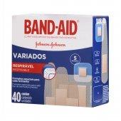 BAND AID CURATIVOS VARIADOS 40 UNIDADES