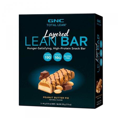 Barra de Proteína GNC Layered Lean Bar Sabor Creme de Amendoim