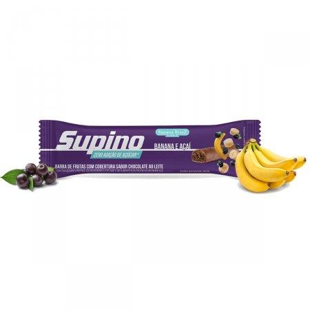 Barra de Frutas Supino Zero Banana e Açaí 24g   Drogaraia.com