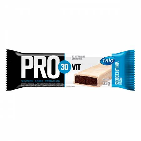 Barra de Proteínas PRO30Vit Vanilla e Cookies