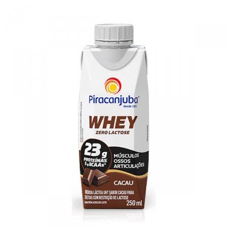 Bebida Láctea Piracanjuba Whey Zero Lactose Sabor Cacau 250ml   Drogasil.com Foto 1