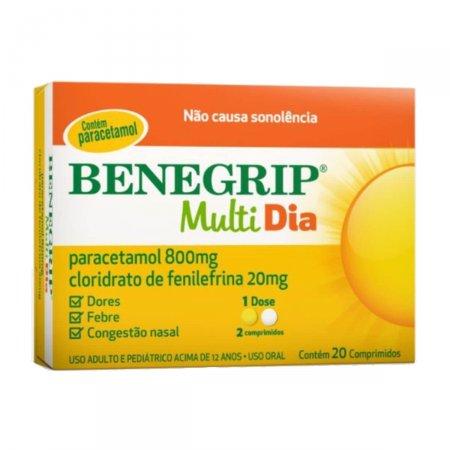 Benegrip Multi Dia com 20 Comprimidos Foto 1