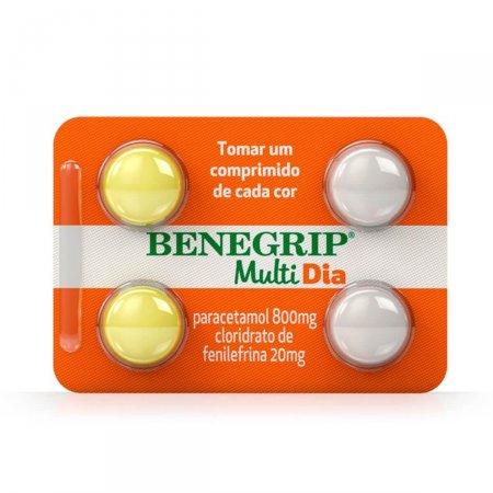 Benegrip Multi Dia com 4 Comprimidos Foto 1