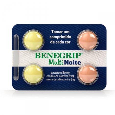 Benegrip Multi Noite com 4 Comprimidos Foto 1