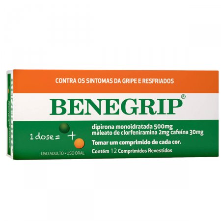 Benegrip com 12 Comprimidos | Drogasil.com Foto 1