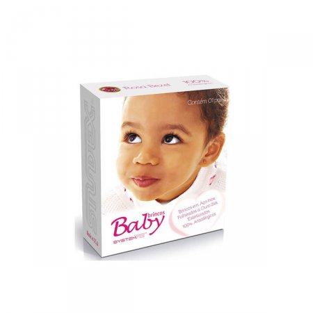 Brinco Studex Baby Cristal Rosé