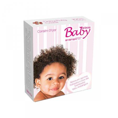 Brinco Studex Baby Daisy Ruby Cristal