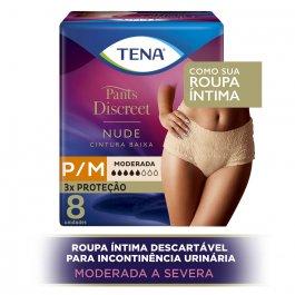 Calcinha Descartável Tena Pants Discreet Nude Tamanho P/M
