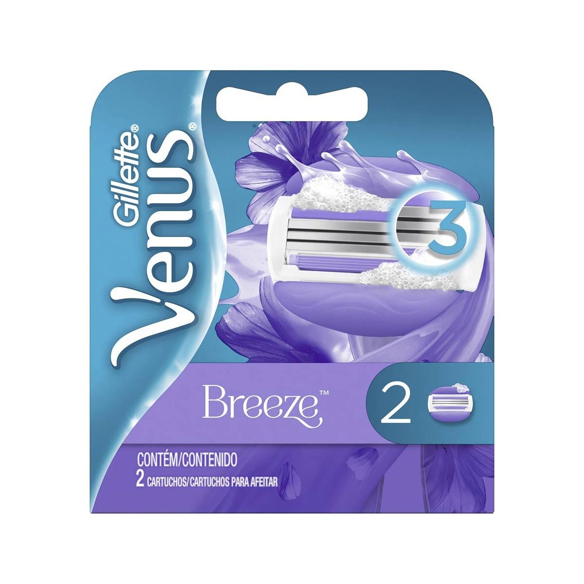 Carga para Aparelho de Depilar Gillette Venus Breeze com 2 unidades 2 Unidades