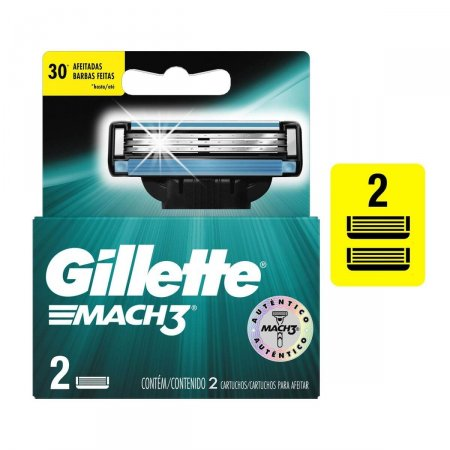 Carga para Aparelho de Barbear Gillette Mach3