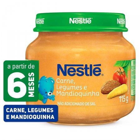 Papinha Nestlé de Carne, Legumes e Mandioquinha