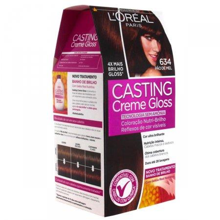 Coloração Permanente Casting Creme Gloss N° 634 Pão de Mel