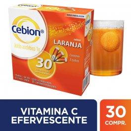 CEBION VITAMINA C LARANJA 1G COM 3 TUB