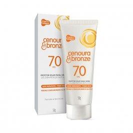 Protetor Solar Facial Cenoura & Bronze FPS70 50g