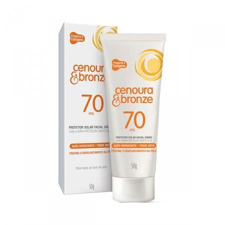 Protetor Solar Facial Anti-Idade Cenoura & Bronze Toque Seco FPS 70 com 50g