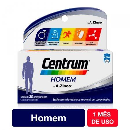 Complexo Vitamínico Centrum Homem 30 Comprimidos   Drogaraia.com